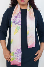 Load image into Gallery viewer, Spring Bloom silk scarf