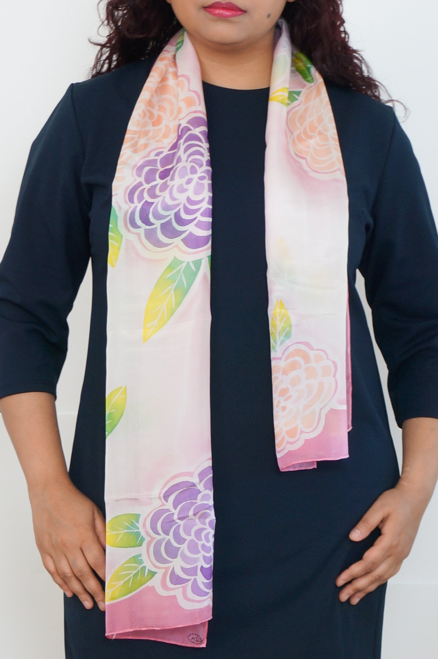 Spring Bloom silk scarf