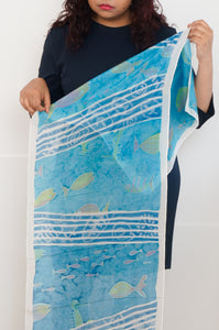 Fishy Fossils scarf