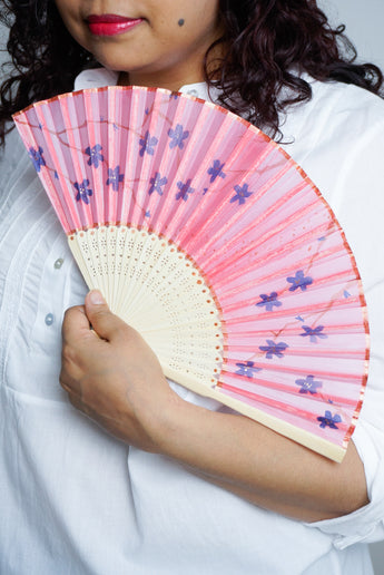 Cherry Blossom silk fan