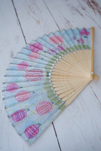 Hot Air Balloon Race silk fan