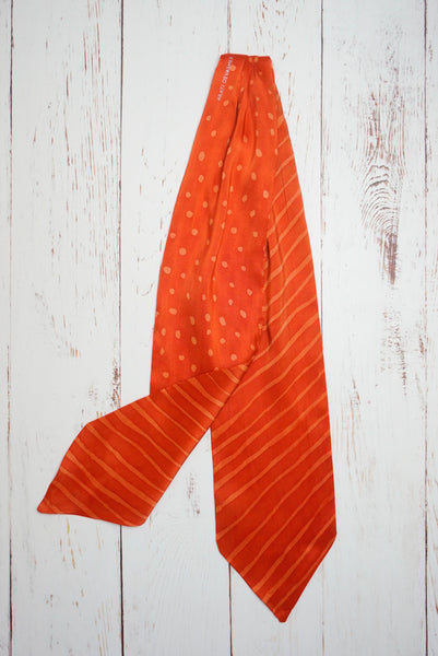 Blood Orange silk cravat (double-sided)