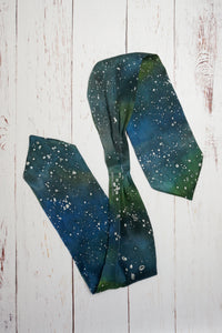 Infinite Galaxy silk cravat