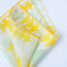 Load image into Gallery viewer, Yellow silk pocket square 28x28