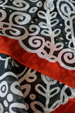 Autumn long silk scarf