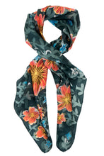 Load image into Gallery viewer, Winter Garden silk scarf
