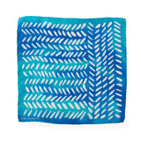 Blue silk pocket square 28x28 - Dashing collection