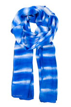 Load image into Gallery viewer, Blue Stripes scarf