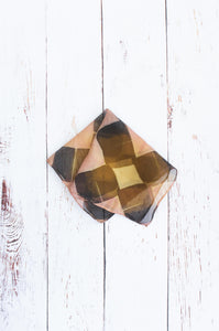 Bronze Sunset pocket square 32cm