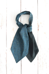 Dorian Grey silk cravat (double-sided)