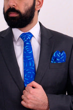 Load image into Gallery viewer, Fireworks II silk tie & kerchief set