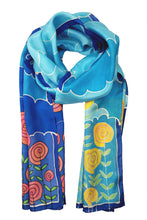 Load image into Gallery viewer, Noon and Night III silk scarf