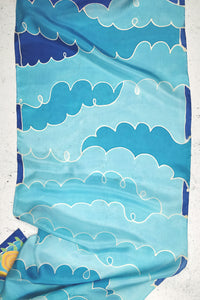 Noon and Night III silk scarf