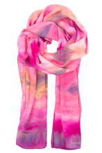 Load image into Gallery viewer, Geometric deep pink crepe silk scarf