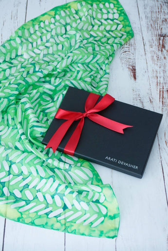 Dash of Lime silk scarf