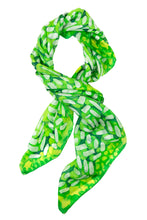 Load image into Gallery viewer, Dash of Lime silk scarf