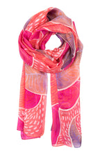 Load image into Gallery viewer, Pink paisley silk scarf 40x150 - Paisleys series