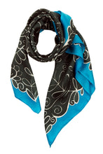 Load image into Gallery viewer, Winter silk scarf, twill weave