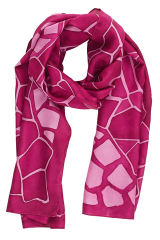 Ruby silk scarf - Mosaic collection
