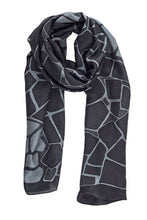 Load image into Gallery viewer, Slate silk scarf