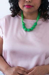 Fern ribbon necklace