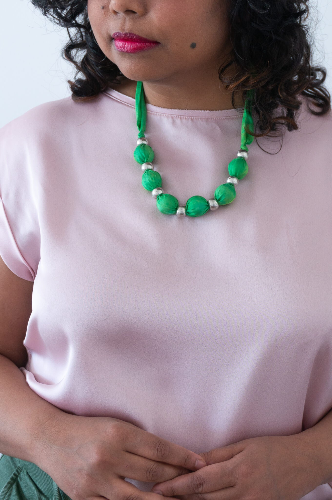 Greenery necklace