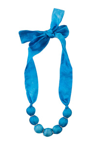 Cornflower ribbon necklace