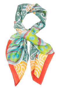 Peaceful Paisleys silk scarf