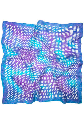 Purple Rain silk scarf 90cm
