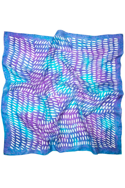 Purple Rain silk scarf 90x90 - Dashing collection - made to order
