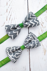 Mr Lime Grey bow tie