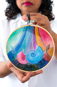 Nautilus in Celestial Rainbow wall art