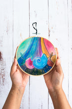 Load image into Gallery viewer, Nautilus in Celestial Rainbow wall art