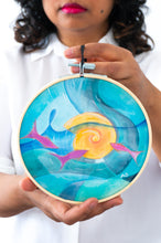 Load image into Gallery viewer, Nautilus with Fish wall art