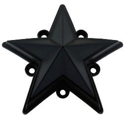 XD Series by KMC Wheels XDSTAR-MB-PK BLACK XD SERIES COLORED REPLACEMENT STAR FOR ROCKSTAR CAPS (5 PACK)