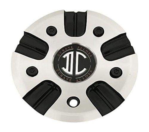 2 Crave Wheels C-339-1 Black and Machined Wheel Center Cap - The Center Cap Store