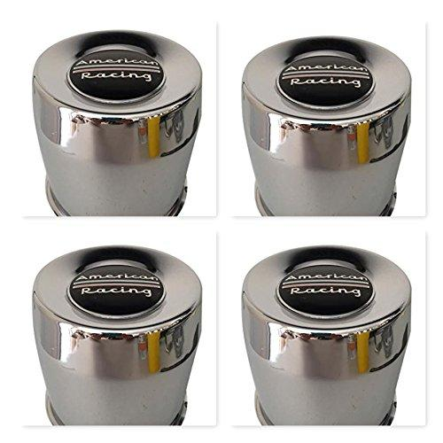 4 Pack American Racing 1515002 899058 Chrome 8 Lug Center Cap - The Center Cap Store