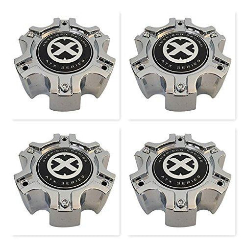 4 Pack American Racing ATX 377B1406H 377B140-6H S907-08 Chrome Center Cap - The Center Cap Store