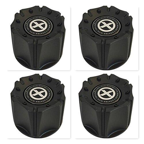 4 Pack American Racing AX181 Artillery SC157B SC-157 S808-07 Black Center Cap - The Center Cap Store