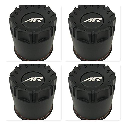 4 Pack American Racing Wheels 1515006016 Black Wheel Center Cap - The Center Cap Store