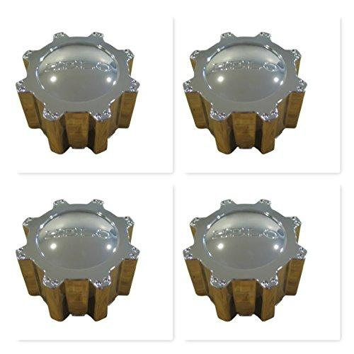 4 Pack Helo 801 804 Rhino 133K83B Chrome Center Cap 6 Lug - The Center Cap Store