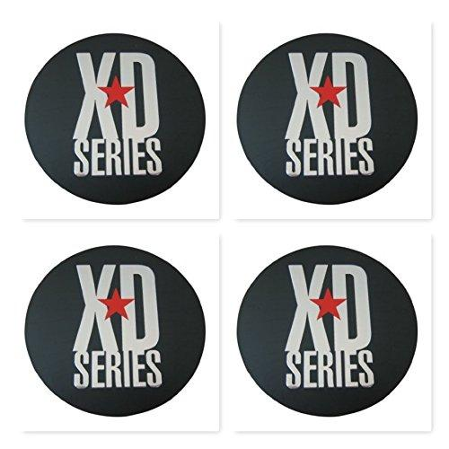 a175bc5cf 4 Pack KMC XD Monster 778 BLACK CAP REPLACEMENT STICKER