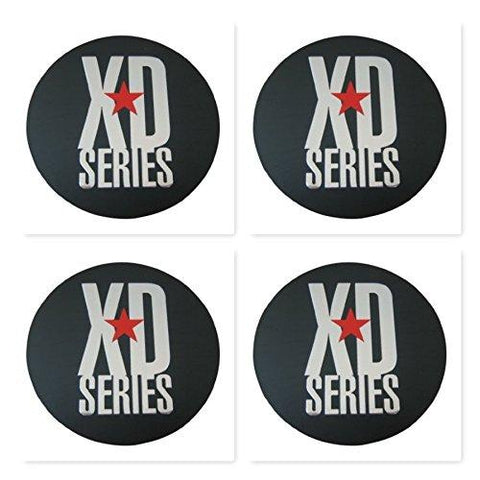 4 Pack KMC XD Monster 778 BLACK CAP REPLACEMENT STICKER - The Center Cap Store