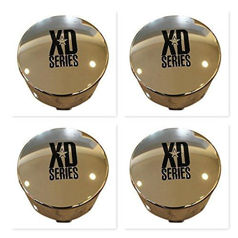 4 Pack KMC XD Series 122 Enduro 8 Lug Chrome Push Thru Center Cap 1001125 1001342 - The Center Cap Store