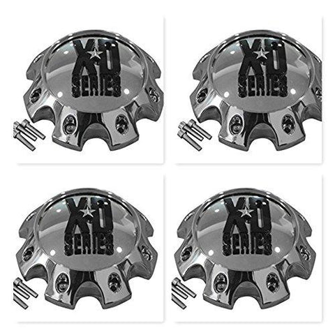 4 Pack KMC XD Series 441 796 797 798 8 Lug Chrome Short Center Cap 309B170-8H - The Center Cap Store