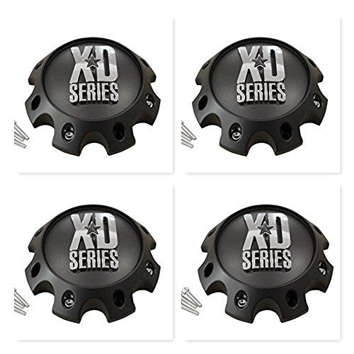 4 Pack KMC XD Series 441 796 797 798 8 Lug Matte Flat Black Short Center Cap 309B170-8H - The Center Cap Store