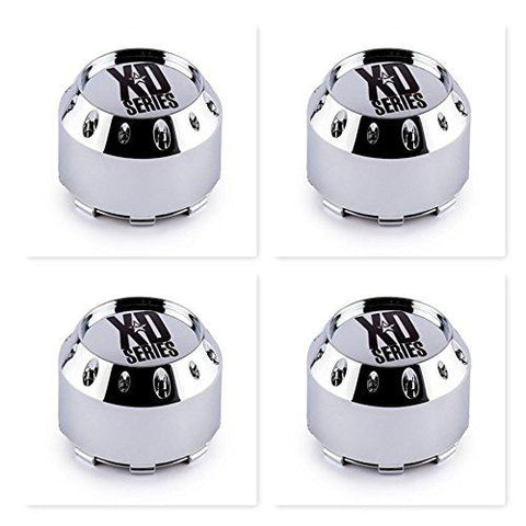 4 Pack KMC XD Series 464K106 Chrome Wheel Center Cap 6 Lug - The Center Cap Store