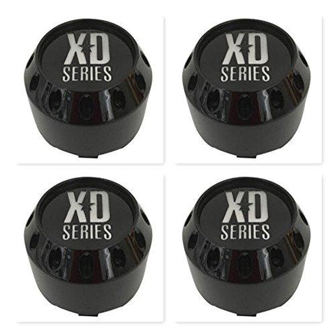 4 Pack KMC XD Series 464K98GB LG1405-22 Gloss Black Center Cap - The Center Cap Store