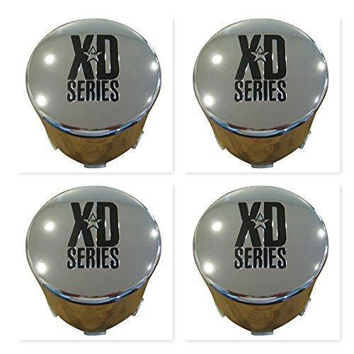 4 Pack KMC XD Series 766 Chrome Wheel RIm Push Thru Center Cap 1001357 F108-23 - The Center Cap Store