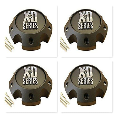 4 Pack KMC XD Series 796 797 798 Matte Black 5 Lug Wheel Rim Center Cap 1079L140A - The Center Cap Store